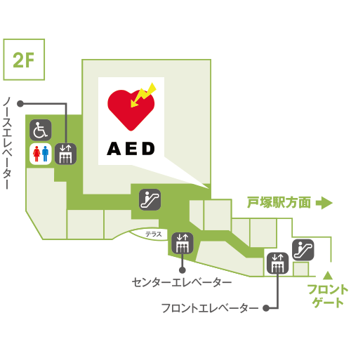 AED 2Fニトリ前