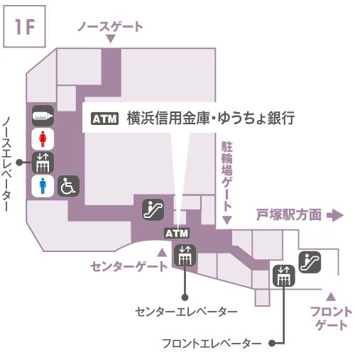 1F センターエレベーター前
