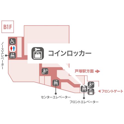 B1F フロントエレベーター前
